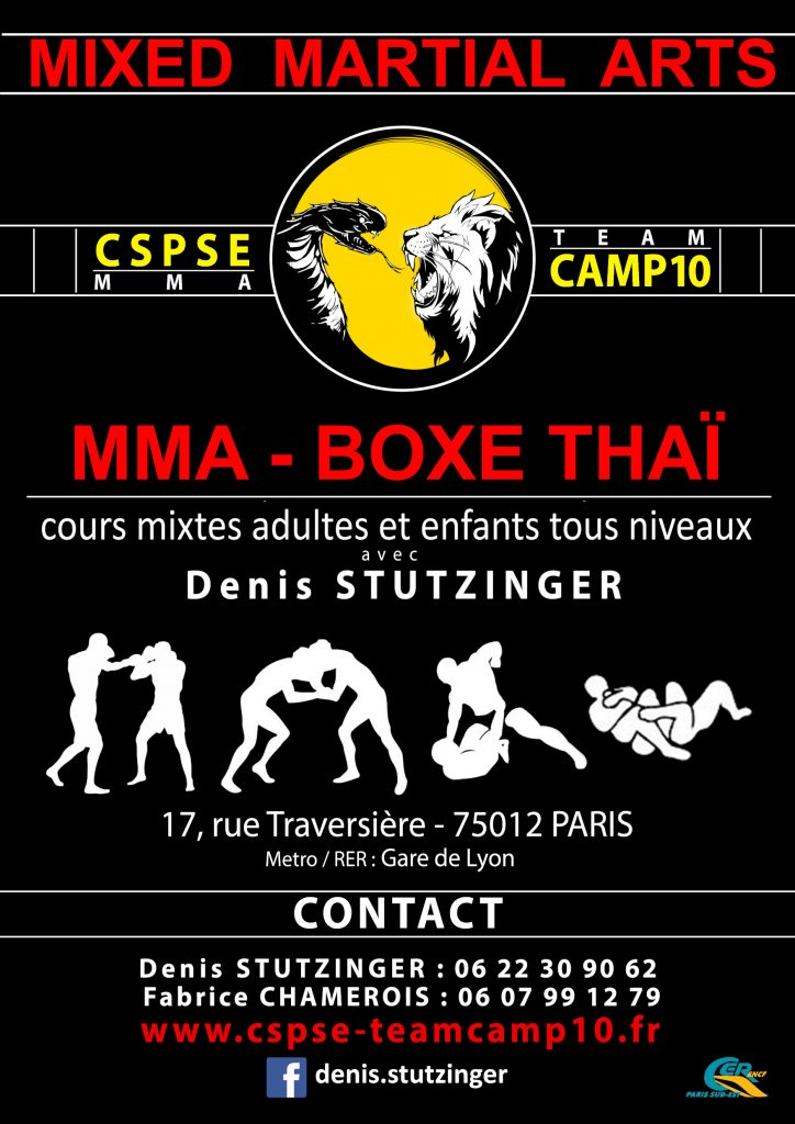 une belle rentrée pour cette nouvelle saison 2019/2020, merci à tous ceux qui ont choisi le CSPSE-TEAM CAMP10 pour pratiquer le MUAY-THAI & le MMA , ainsi qu'aux parents qui nous confient leur enfants pour le MMA KIDS